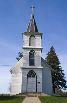 Historic Christdala Church located in Rice County, Minnesota